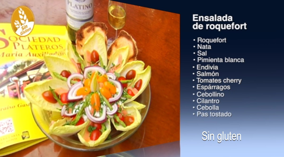 Ensalada de roquefort sin gluten