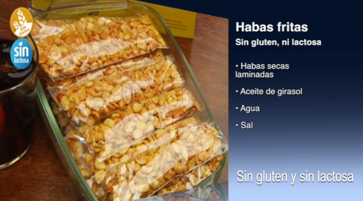 Receta de Habas fritas sin gluten y sin lactosa, como se hace