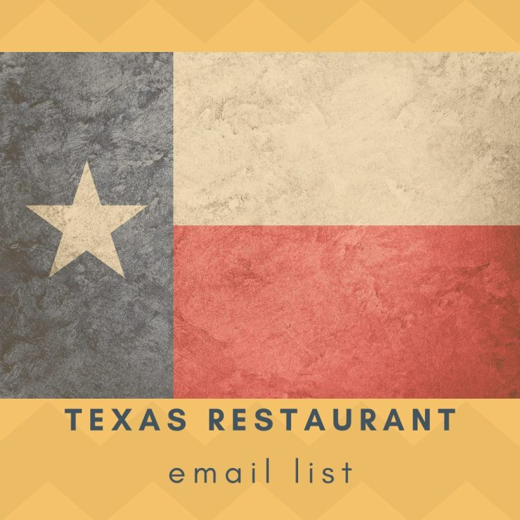 Texas Restaurants Email List and Contact Database