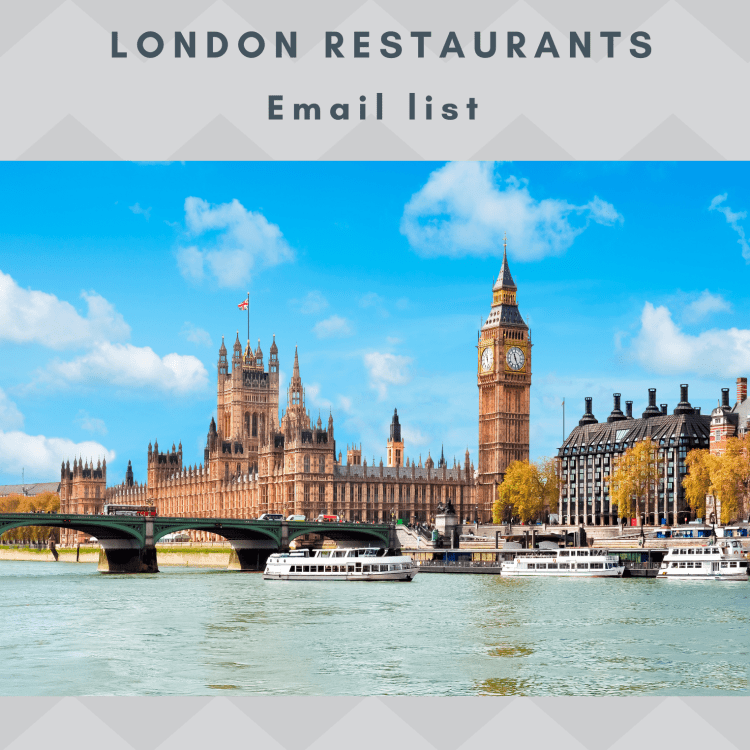 London Restaurants Email and Mailing list