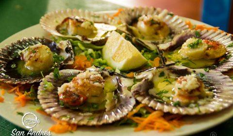 Zamburiñas · Restaurante San Andrés · La Palma · Canarias · Pescado Fresco, Paella de Marisco, Gran Selección de vinos.