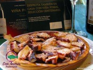 Pulpo a la Gallega · Restaurante San Andrés · La Palma · Canarias · Pescado Fresco, Paella de Marisco, Gran Selección de vinos.