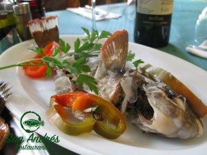 Vieja guisada · Restaurante San Andrés · La Palma · Canarias · Pescado Fresco, Paella de Marisco, Gran Selección de vinos.