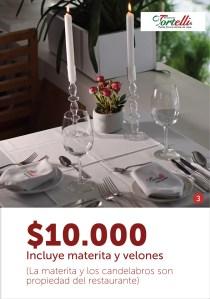 Restaurante Tortelli - Decoracion materita - velones