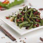 Haricots verts sautés aux piments