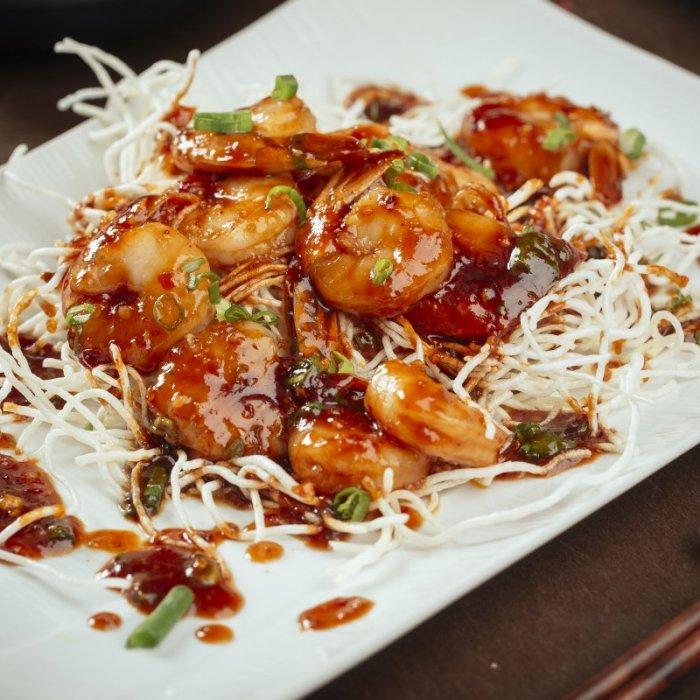 Jumbo Tiger Shrimps with Szechuan Sauce