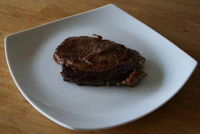 What a properly seared steak looks like