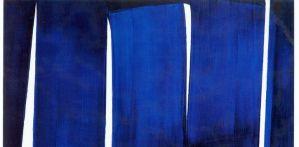 Benoit Janson Atelier Nouvelle Tendance Restauration de Tableaux Soulages bleu