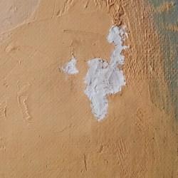 scheur in schilderij – voorzijde na vullen