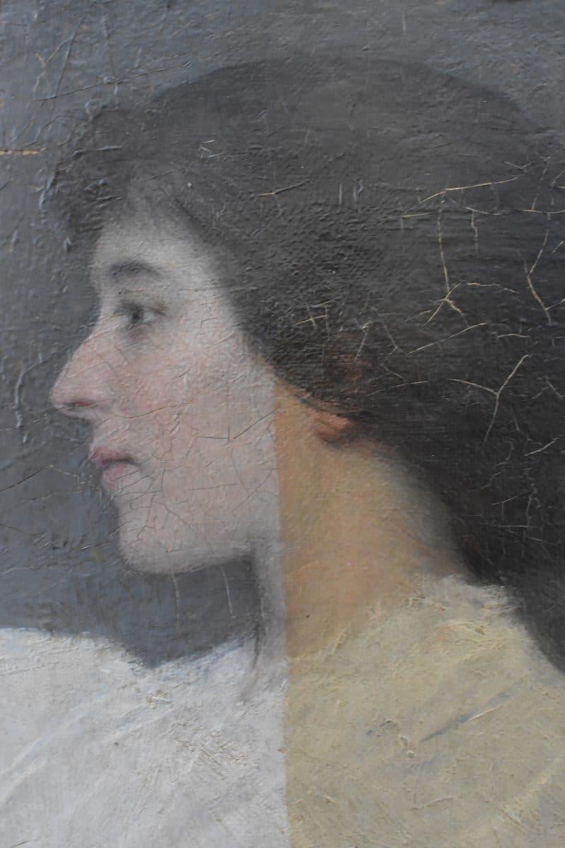 restauratie schilderijen - tijdens vernisafname