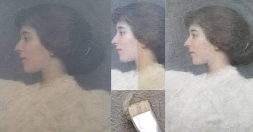 vernisafname schilderij restauratie