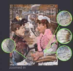 Isaac Israëls - painting restoration