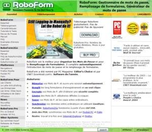 RoboForm: Gestionnaire de mots de passe