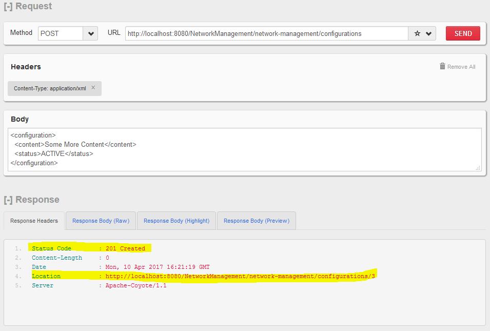 HTTP POST - Create New Resource