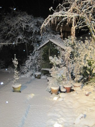 Our garden last Winter (I hear there's going to be lots more soon?) Dreading it!