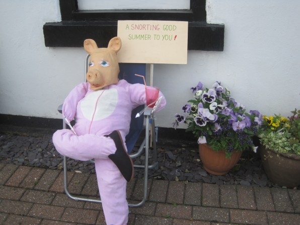 And every scarecrow festival needs a pink pig, right?