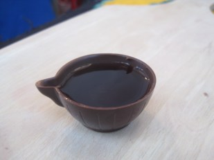 And you're bound to try the ginja liqueur, in a chocolate cup