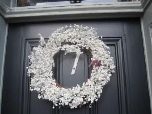 A lucky door wreath