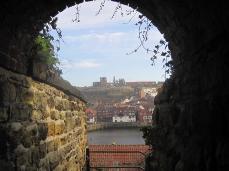 Looking out from the 'Screaming' tunnel