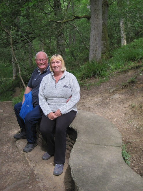 Ian and Pam make use of the first bench along our path