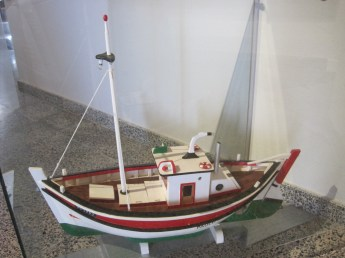 Boats adorned every available surface