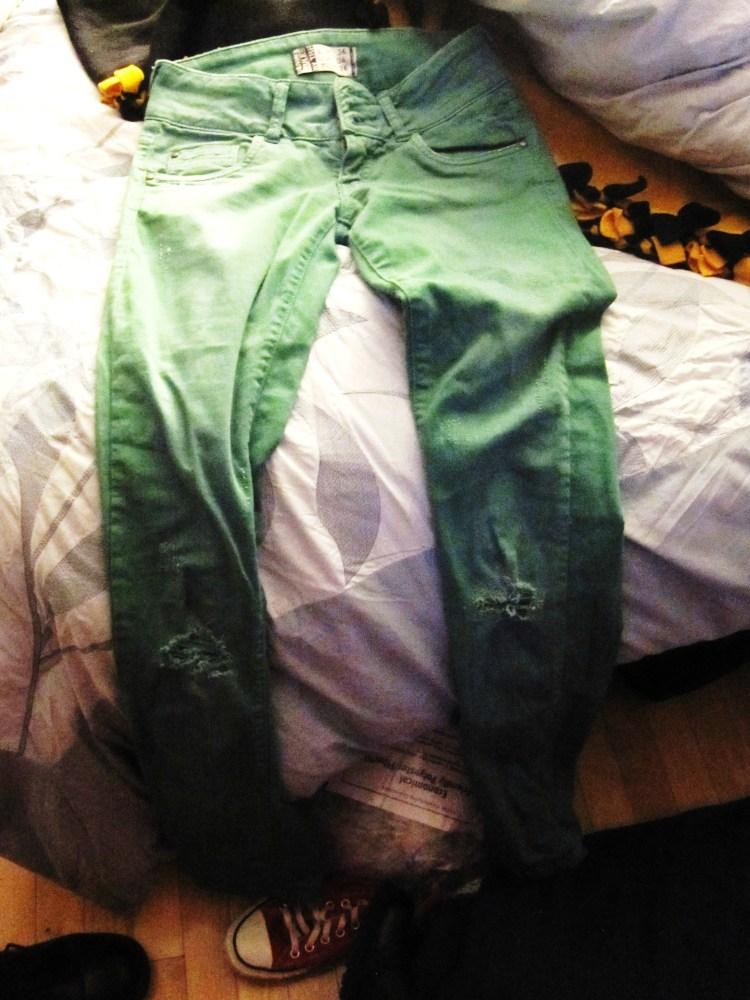 My Goal and My Bane--Irish Green Pants (You are Beautiful)