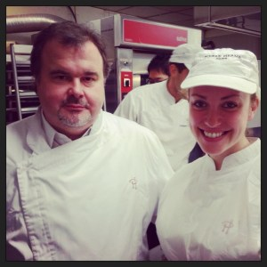 Leigh Omilinsky with Pierre Hermé