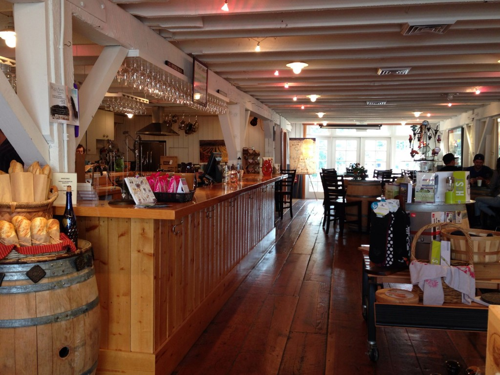 Hillcrest Barn interior, the tasting room