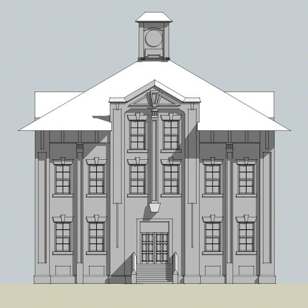 An elevation rendering of Gas & Coke Building