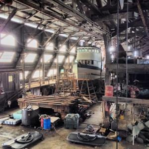 The interior of the Astoria Marine Construction Company (AMCCO) in October, 2013 (Restore Oregon photo)