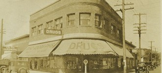 Late 1920s photograph of the Phoenix Pharmacy (Photo courtesy of fosterthephoenix.com)