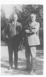 President Hoover and Julius Meier (photo courtesy of Menucha Retreat and Conference Center)