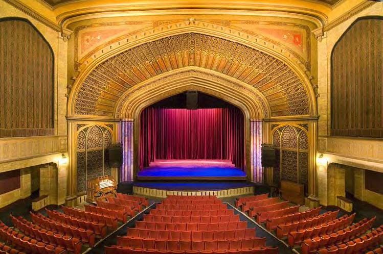 Elsinore Theatre in Salem, Oregon, was designed by Ellis F. Lawrence, former A&AA dean. Courtesy Elsinore Theatre.
