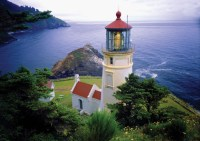 Heceta Head Lighthouse Exterior Long View