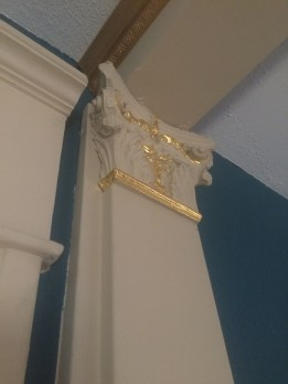 The beautiful crown molding in the upstairs of Beech Street Parlor.