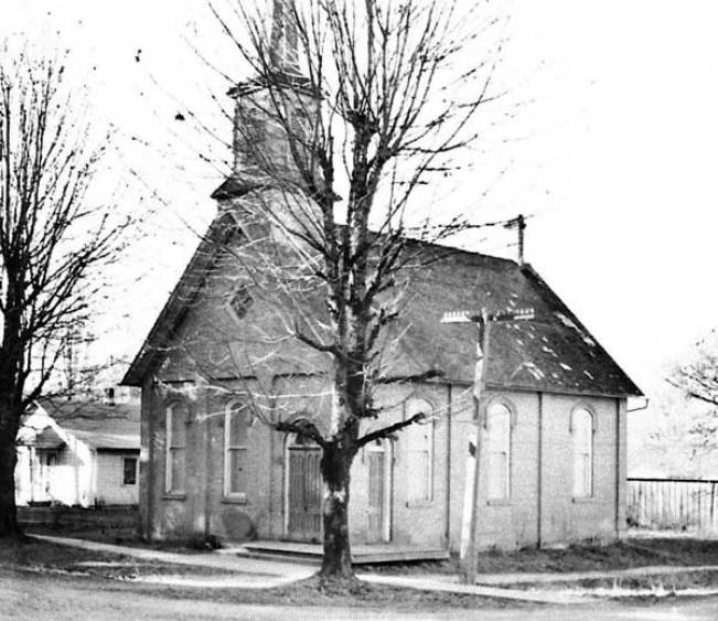 Block House Cafe when it was still a church in 1936