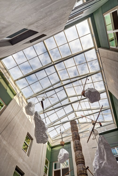 New skylight over the central courtyard