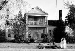 1930's Historic American Buildings Survey image of the Sam Brown House