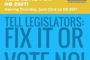 ADVOCACY ALERT_ Hearing Thursday, June 22nd on HB 2007