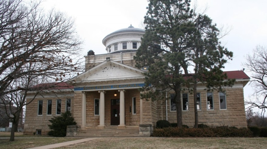 Anderson (Carnegie) Memorial Library, 1902, Emporia, KS, by Charles W. Squires.