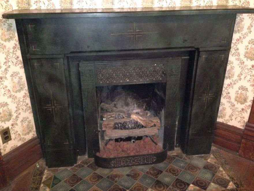 This fireplace is certainly 1879s, and is older than most of what we have been looking at.