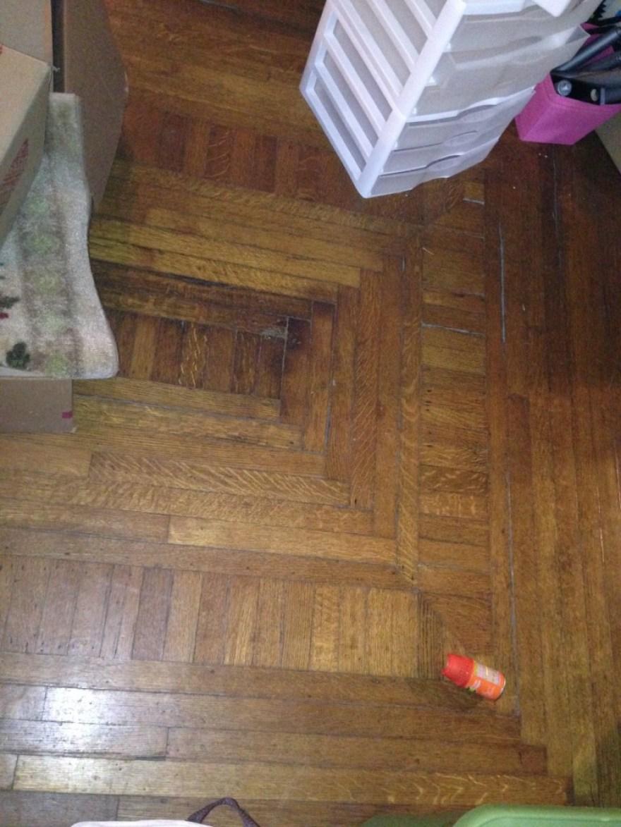 Dining room floor.