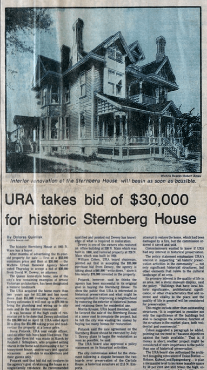 The house finally sold in 1977 for $30,000.