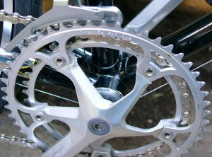 Omfega Mistral crankset with Campagnolo rings 42/52