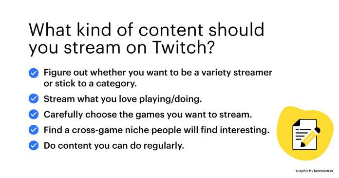 Checklist – What kind of content should you stream on Twitch?