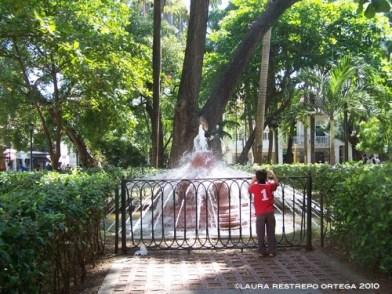 fountain Parque Bolivar Cartagena Colombia