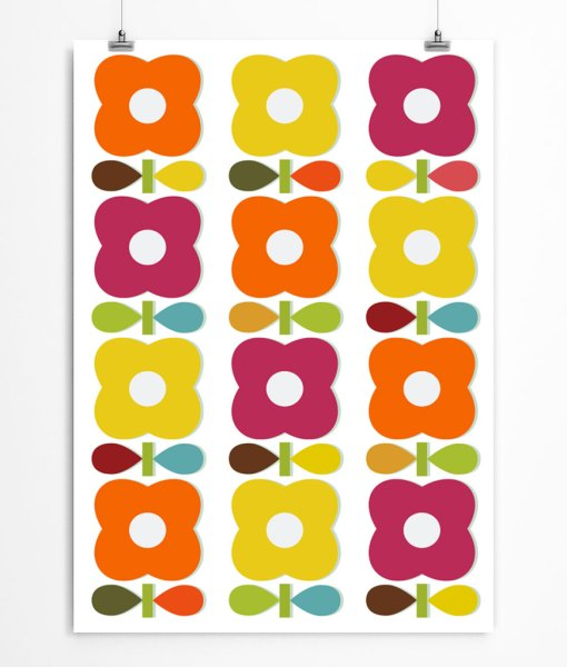 Blossom pattern print. Nursery wall decor with petal wallpaper. Check out on restylegraphic.com