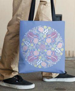 Henna small mandala tote bag