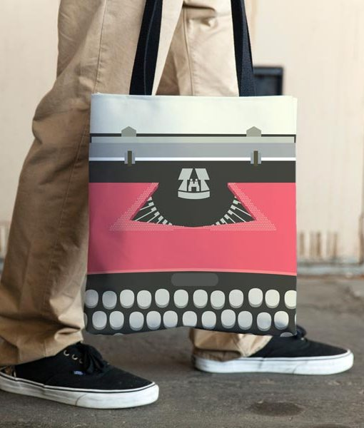 Typewriter red allovertote