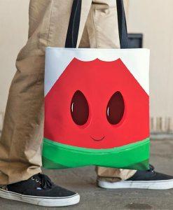 Funny watermelon tote bag